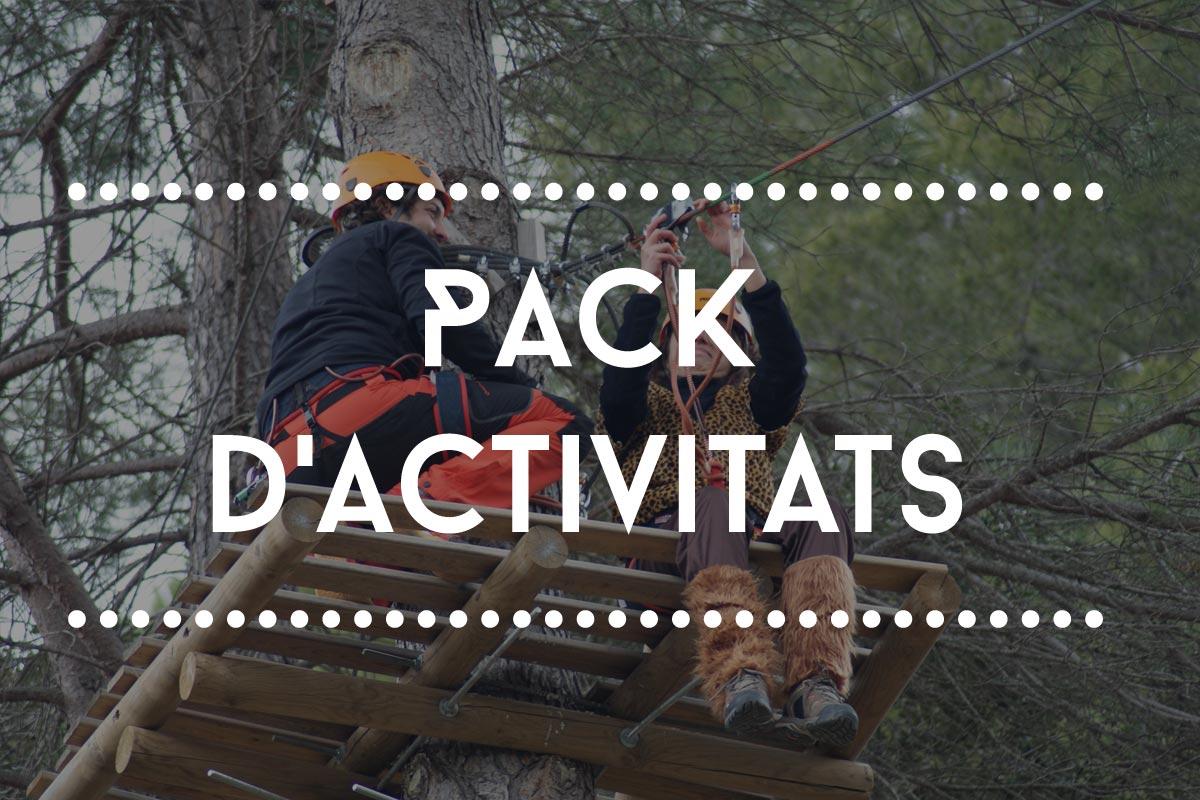 pack activitats ofertas Vies Altes parque aventura tirolina Catalunya Tarragona Porrera Priorat