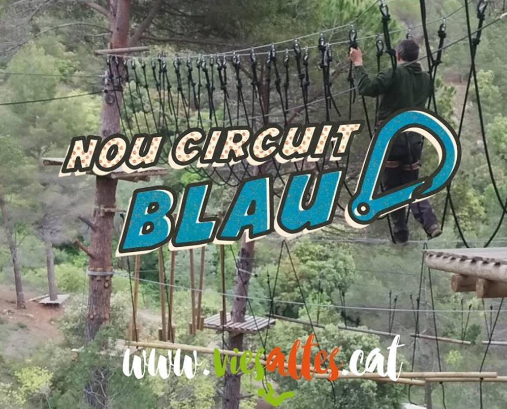 vies altes-porrera-circuit blau-tirolinas-aventura-priorat-ziplines