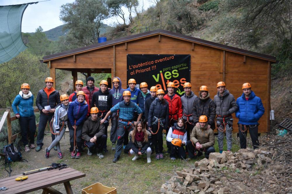 porrera vies altes priorat tarragona aventura tirolina grupo aventura cafem2016